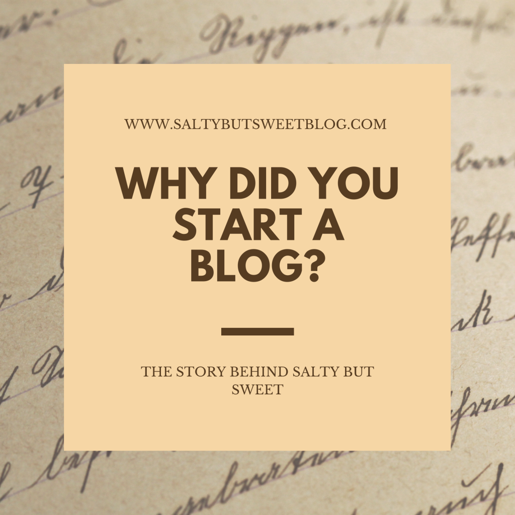 Why did you start a blog?