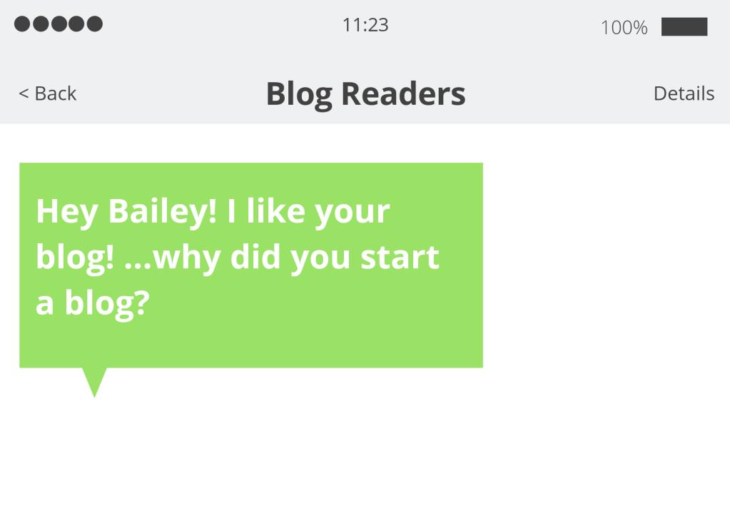 Why'd you start a blog text