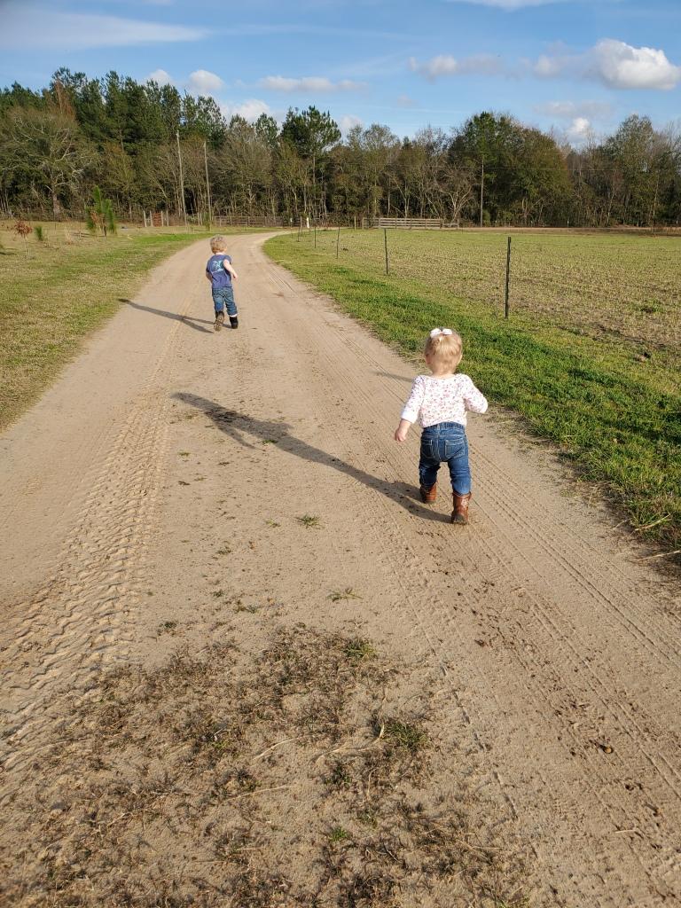 toddlers walking