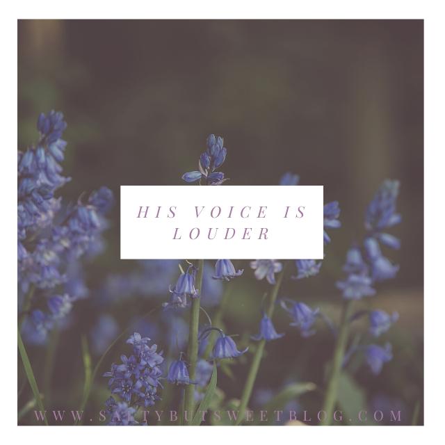 his voice it louder