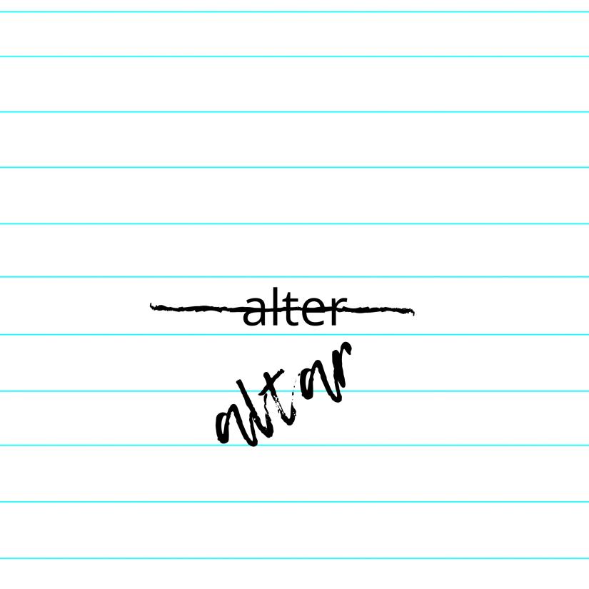 altar = alter