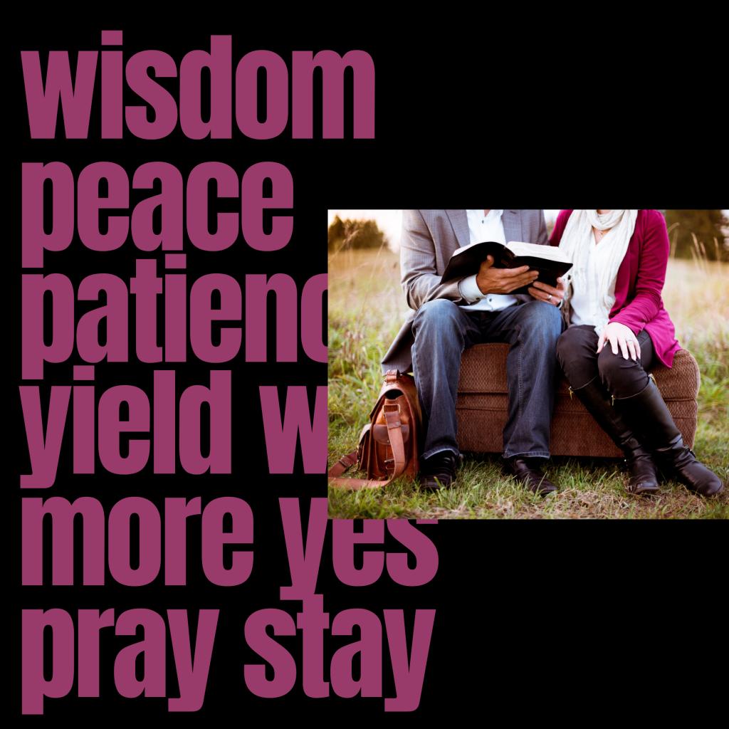 wisdom patience yield