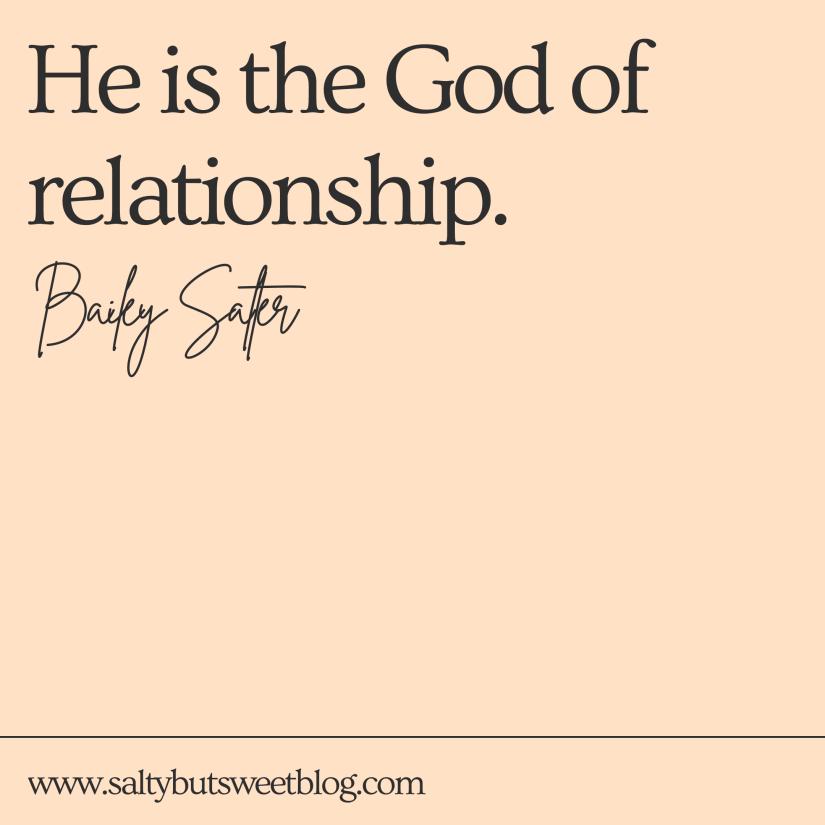 God of relationship